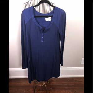 Free People Thermal Henley Dress M